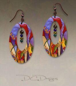 DC Designs SH41OE EARRINGS Antique Copper Hypoallergenic Wearable Art + Gift Box