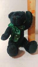 "10 1/2""  happy holidays Fiesta Christmas  bear plush green jointed"
