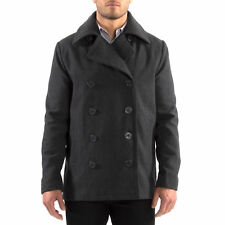 Alpine Swiss Mason Mens Wool Blend Pea Coat Jacket Double Breasted Dress Coat