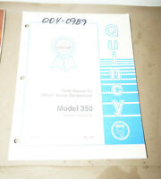1996 Quincy Model 350 QR-25 Series Compressor Service Parts Manual 50217-105