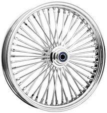 Ride Wright Wheels Inc Omega Chrome 50 Spoke 21X3.5 Front Wheel (Dual Disc), Co