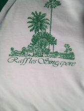 REAL ORIGINAL RAFFLES HOTEL POLO SHIRT, SINGAPORE SLING FAMOUS, VINTAGE 1984