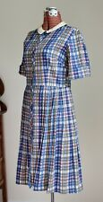 1950's 60's Seersucker Plaid Shirtwaist VTG Dress by Country Cousins Girltown
