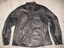 Harley-Davidson Men's Benson Lightweight Black Leather Jacket, XL, #97155-17VM