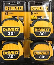 DeWalt 30' Tape Measure DWHT36109 4 Pack