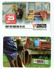 Tractor Supply Co Gift Card - LOT of 2 - Older Styles - Work Truck - No Value