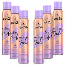 ( 29,48€/ L) 6x 200ml Got2b Natural NUDE SECADOR DE AIRE AIR DRY Espuma SPRAY