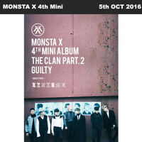 MONSTA X THE CLAN 2.5 PART.2 GUILTY 4th Mini Album GUILTY Ver.CD+Booklet+Card