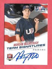 2015 Morgan McCullough Panini USA Baseball Rookie Auto 214/499