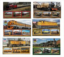 2010 TRAIN TRAINS 10  SOUVENIR SHEETS MNH UNPERFORATED RAILROAD part1