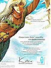 PUBLICITE ADVERTISING 026  1964  KOTEX  hygiène féminine par Maynard