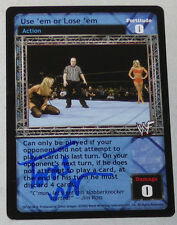 Torrie Wilson Signed 2002 Comic Images Raw Deal WWF WWE Playing Trading Card Use