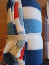 George Home Stripy Fleece Blanket 120x150cm Brand New