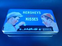 Hershey's Chocolate Kisses Collectible Rectangular Tin Metal Box