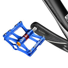 "RockBros MTB Road Bike Cycling 4 Sealed Bearing Pedals Aluminum Alloy 9/16"" Blue"