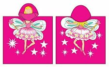 Fairy Hooded Beach Towel Kids Character Bath Costume Cotton Pool Cover Up Robe
