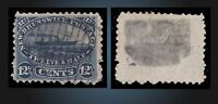 1860 -1863 NEW BRUNSWICK USED 12.1/2 C BLUE SCT. 10  SG. 18 PADDLE STEAMER