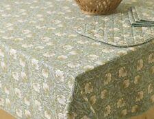 William Morris Pimpernel Green 132 cm x 178 cm  Floral Cotton Tablecloth
