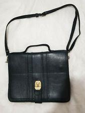 Andrea - Black leather purse bag - Schwarze Ledertasche Czarna skórzana torebka