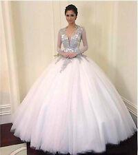 New white/ivory Lace Wedding Dress Bridal Gown custom size 6 8 10 12 14 16 18 20