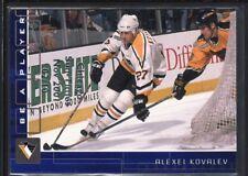 ALEXEI KOVALEV 2001/02 BAP MEMORABILIA SAPPHIRE CHICAGO EMBOSSED SP #02/10