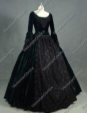 Gothic Victorian Queen Velvet Steampunk Dress Gown Theatrical Costume 153 XXL