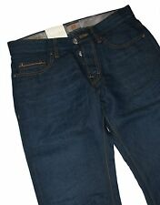 Hugo Boss 50238293 Dark Blue Denim Orange 25 Issue Jeans mit 43% Leinen W36 L36