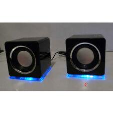 Design USB Lautsprecher Boxen für Laptop PC Schwarz Loudspeaker speaker (DS)