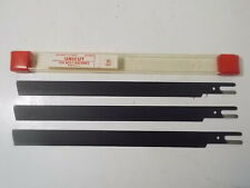 "(3) Nib Unicut 10"" High Speed Steel Knives for Wolf Machines"