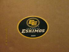 Cfl Ee Edmonton Eskimos Vintage Circa 2005 MacDonalds Logo Football Sticker