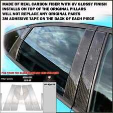 FITS ACURA ZDX 2010-14 REAL BLACK CARBON FIBER WINDOW PILLAR POSTS - 6 PCS