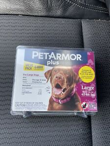 PET ARMOR PLUS for dogs Large  45-82 lbs. Flea medication .  6 Applications .