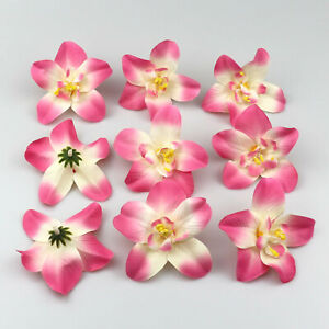 """10/100X3.1"""" Artificial flowers Silk Butterfly Orchid  Pink Decoration Accessorie"""