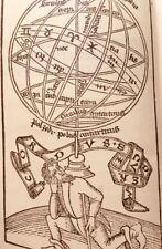 1489 Incunabolo Trattato DE SFERA di Giovanni Sacrobosco