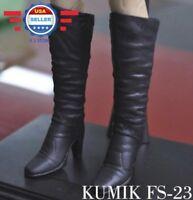 KUMIK 1/6 Black High Heel Boots HOLLOW for 12'' Female Figure Doll Phicen