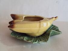 Rare! Vintage Original McCoy Pottery Banana Fruit On Leaf Planter