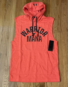 Under Armour Men's Project Rock Terry Sleeveless Hoodie 1352963-608 Small NWT