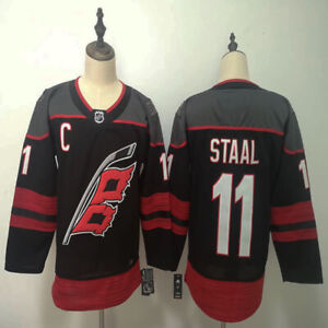 Carolina Hurricanes 11 Jordan Staal Ice Hockey Stitched Jersey Men's Black Red