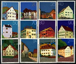 Liechtenstein 1978 SG#691-702 Buildings MNH Set #D59434