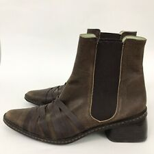 Coclico womens 36.6 6.5 Chelsea Boots Booties Brown Leather Straps