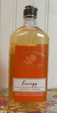 SEALED BATH & BODY WORKS AROMATHERAPY ENERGY ORANGE + GINGER BODY WASH 10 OZ