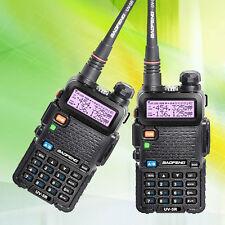 2 Pcs Baofeng Uv-5R Vhf/Uhf 136-174&400-520Mhz Ham Two-way Radio Walkie Talkie R