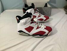Jordan 6 Retro Carmine (2014) White / Black Men's 10 Pre-Owned 384664-160