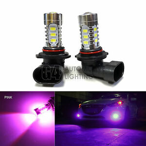 2x HB3 9005 LED Bulbs High Power DRL SMD 5730 Fog Light Projector Bulb Pink