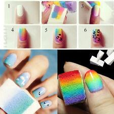 8pcs Salon éponges ongles pour Acrylique Maquillage Manucure Nail Art Accessoire
