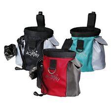 TRIXIE 2 in 1 DOG PUPPY Formazione trattare spuntino borsa + sacchetto di cacca di integrato titolare
