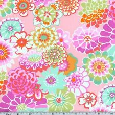 Kaffe Fassett 100% Rayon Fabric Asian Circles RGP01 in Pink Botanical Flowers