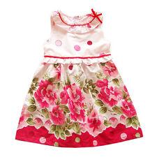 ROSA para niña Vestido Fiesta Verano Floral de 18 meses a 6 años