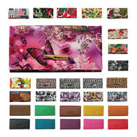 Damen Geldbörse Damenbörse Portemonnaie Geldbeutel Querformat 30 Farben Auswahl