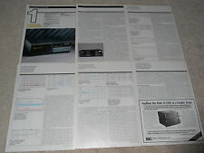 Meridian 208 CD PLayer/ Preamp Review, 5 pg, 1991, Full Test, Very Rare!